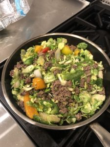 Organic grass fed ground beef meal